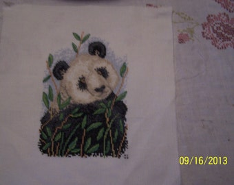 cute panda cross stitch