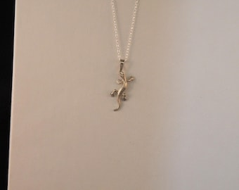 Sterling Silver Gecko Pendant