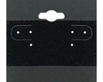 "NEW 100 Black Plain Hanging 1.5"" x 1.5"" Earring Card Jewelry Display"
