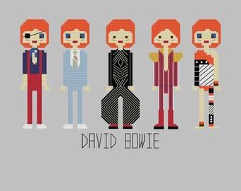 Cross Stitch Pattern - David Bowie//Craft Supplies//PDF Pattern//Instant Download//Digital Download