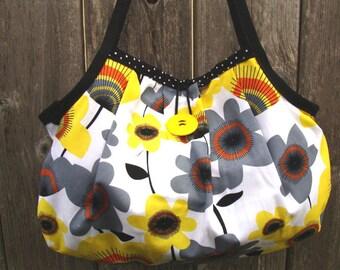 Yellow Floral Shoulder Bag Purse