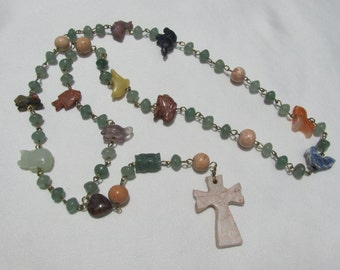 St. Francis and the Animals Gemstone Rosary