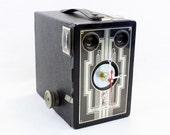 Art Deco Vintage Brownie Target Six-16 Camera Clock
