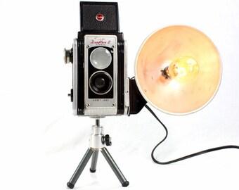 Reading Lamp - Kodak Duaflex II Vintage Camera on mini tripod