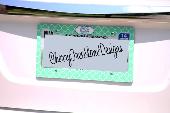items similar to monogrammed license frame personalized car tag frame car accessories gifts for her design you own license plate with monogram car monogram