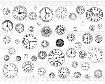 Clip Art Steampunk Clipart steampunk clip art etsy victorian clock faces digital illustrations collage sheet vintage 0186