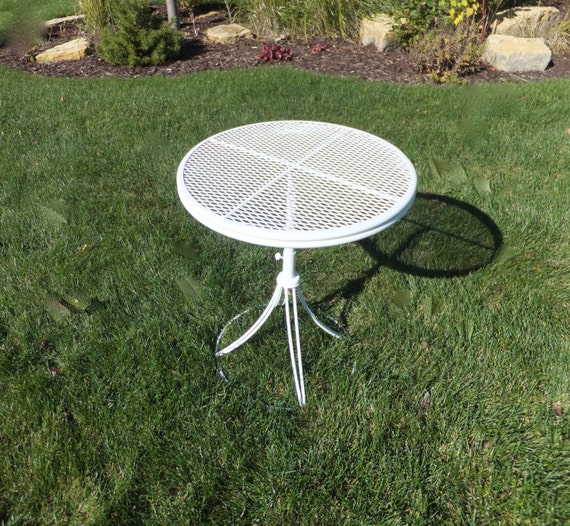 Vintage Telescoping Patio Table Homecrest Round By