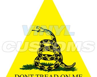 Dont Tread On Me Vinyl Decal Sticker Triangle