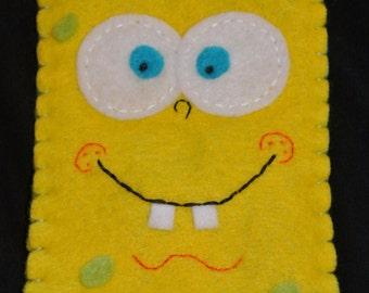 Spongebob Felt Phone Case Pouch iPhone Pineapple Bikini Bottom