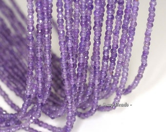 3mm Royal Amethyst Gemstone Grade AA Light Purple Faceted Round Loose Beads 15.5 inch Full Strand (90143441-107-3g)