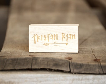 Custom, and Personalized, Handwritten Name Rubber Stamp (for boys or girls)