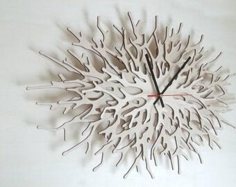 Modern wall clock - Coral