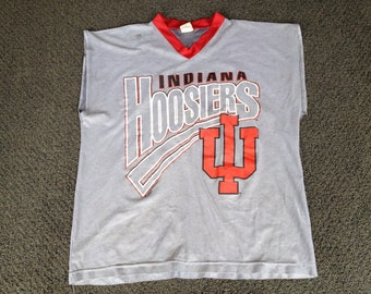 Vintage Indiana Hoosiers IU Basketball Sleeveless Bro Tank Top T-Shirt Size XL