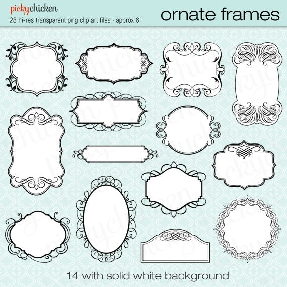 28 Ornate Frames wedding invitation clipart photograph