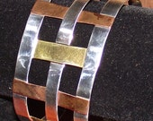 RLM Studios Silver, Brass & Copper Lattice Bracelet