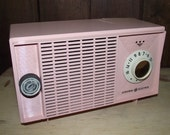 Pink GE Tabletop AM Radio Vintage 1950s