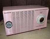 Pink GE Tabletop AM Radio Vintage 1950s