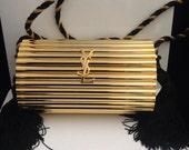 Items similar to Vintage YSL Yves Saint Laurent gold tassel purse ...