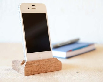 iPhone 4, 5 & 6 Holder Handmade from Oak