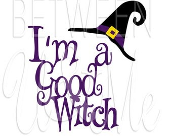 Halloween I'm a Good Witch Hat Iron On Decal Vinyl for Shirt