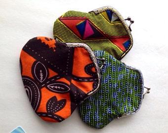Coin purse, kiss lock purse, african fabric purse, frame purse, change purse,african bag, clutch bag, clutch purse