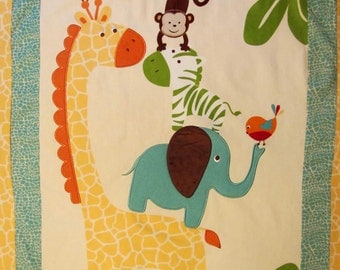 Jungle Friends Baby Quilt