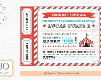 Custom Circus Invitation for a Big Top Circus Party