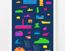 Shapes of Art Museum Accurate to scale poster