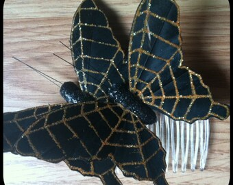 Halloween Butterfly Hair Comb