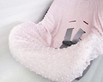 Infant Car Seat Cover liner, Minky Dimple Dot liner, Infant carrier cover