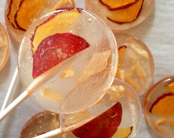 3 Organic Apricot And Ginger Lollipops