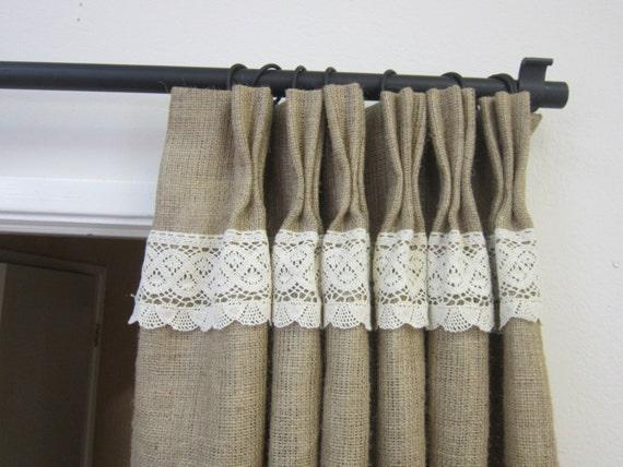 ... /Burlap curtains/Burlap tie backs/Back to school/Decor and Housewares