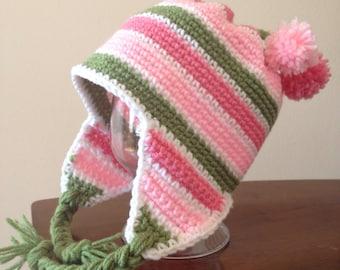 Cute & Cozy striped winter hat