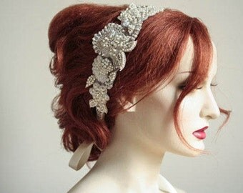 Floral Wedding Headpiece - Ash (Made to order)