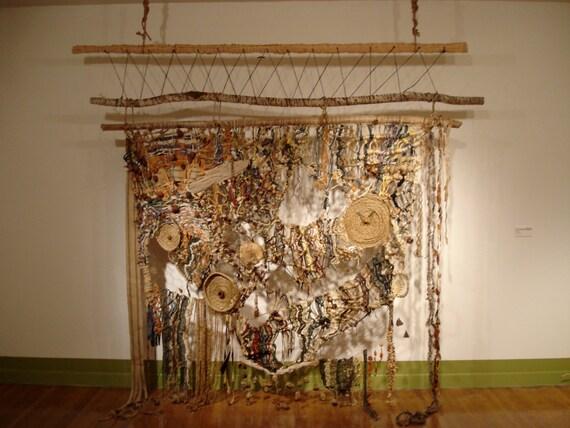 Items Similar To Woven Wall Hanging Macrame Mix Media