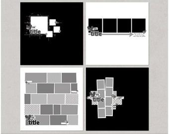 Sample Pack 31 - 12x12 Digital Scrapbooking Templates