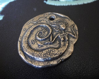 Solid bronze mermaid charm or pendant,antique bronze mermaid, mermaid