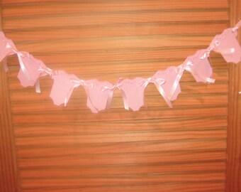 Baby Shower Banner,Handmade  Baby Girl Shower Banner, Handmade  Pink Onesies  Banner, Pink Baby Girl Cake Toppers