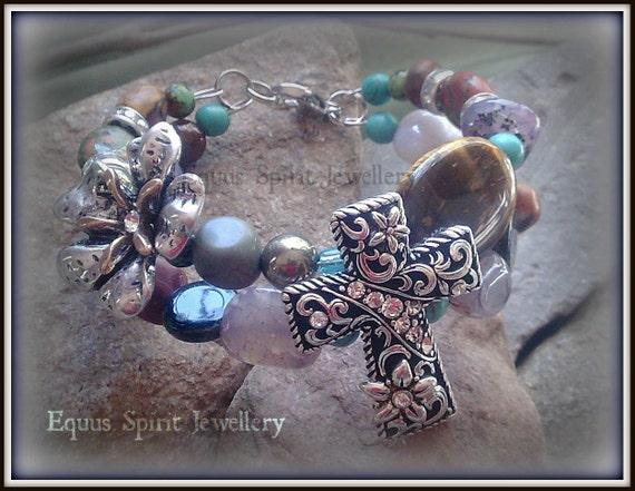 Semi precious cowgirl bracelet