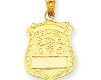 Police Badge Pendant (JC-659)