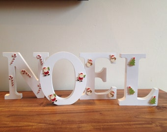 Wooden NOEL christmas decoration