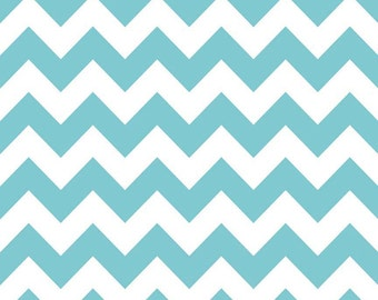 Chevron Fabric Aqua Medium Riley Blake Chevron Cotton Fabric
