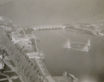 Spectacular 1930's Chicago Century Of Progress Lakefront and Fairgrounds From The Skyride Snapshot Photo - Free Shipping