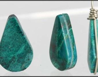 Semi precious stones -  Sold in Pairs              Chrysocola