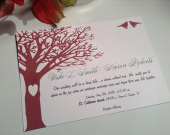 wedding invitations Tree of Love wedding invitation suite
