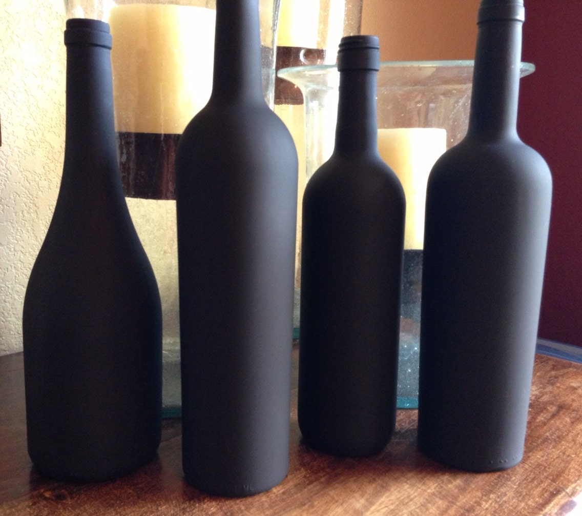 chalkboard wine bottle with chalk
