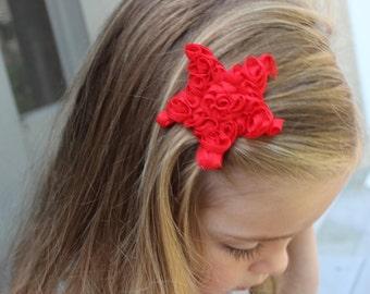 3 Star Hair Clips.  Fourth of July Hair Clips. Non Slip Grip Hair Clips.  Girls Hair Clips. Newborns, toddlers, Girls Hair Clip.