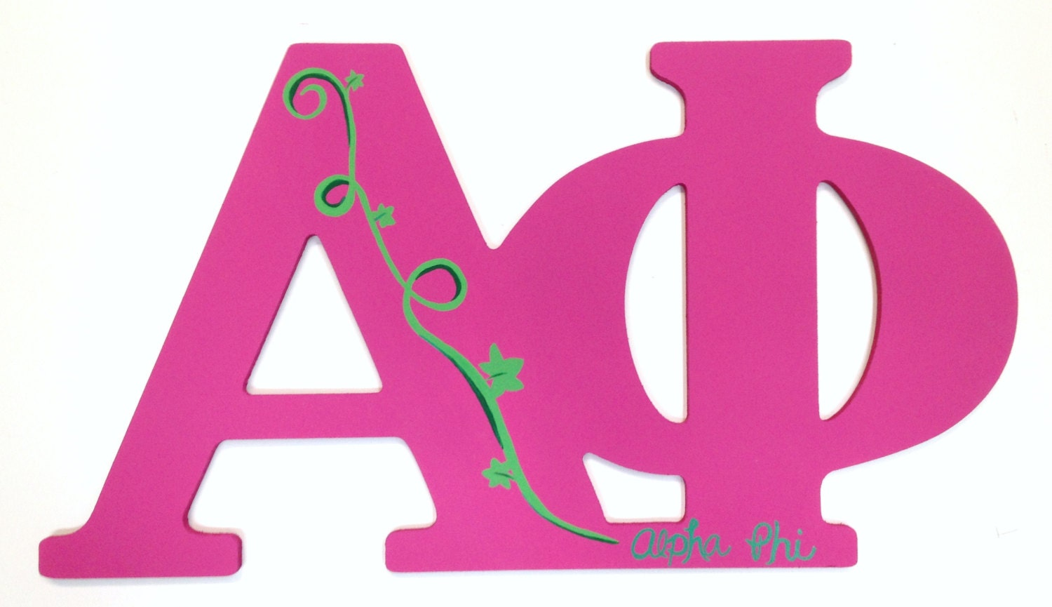 Hand Painted Alpha Phi Sorority Letters by MelissasCustomGifts