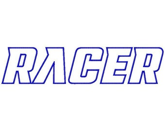 Racer Machine Applique Embroidery Fonts  1685