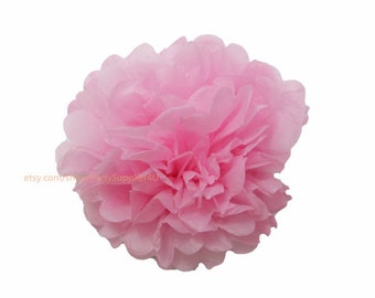 Pink Tissue Paper Pom Poms 1 Small 6 inch Tissue Paper Flowers For Wedding Nursery Shower Party Decoration